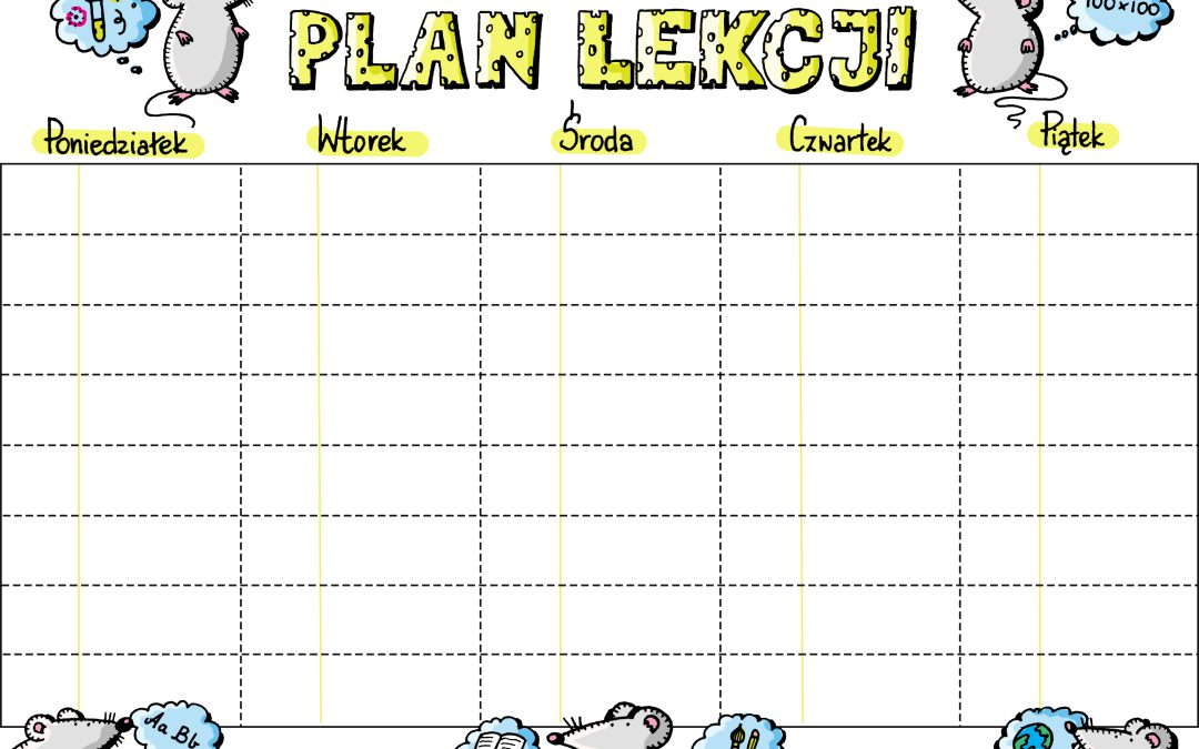 Plan lekcji- kolor