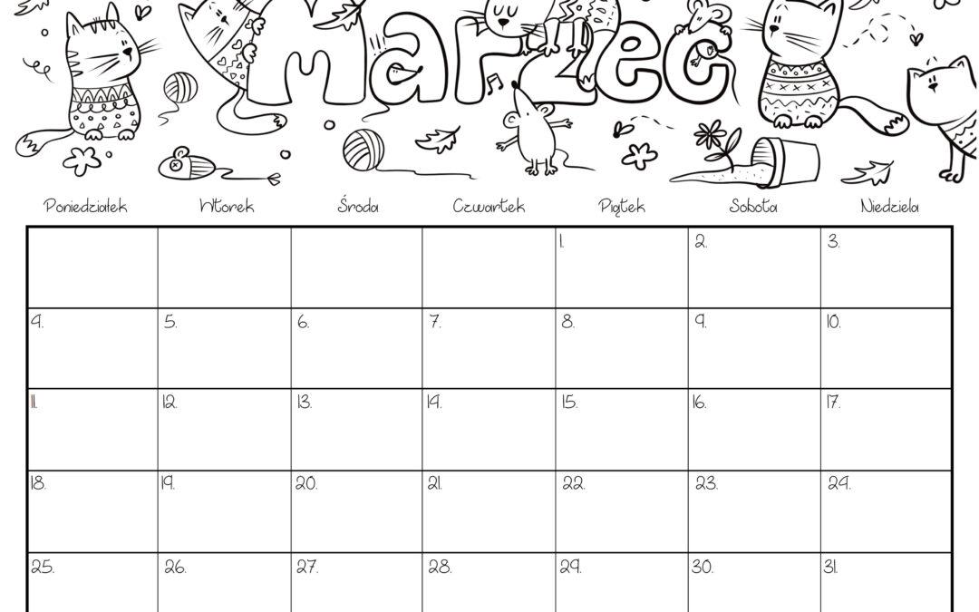 Kalendarz- marzec 2019