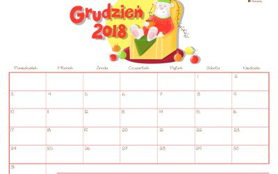 Kalendarz- grudzień 2018