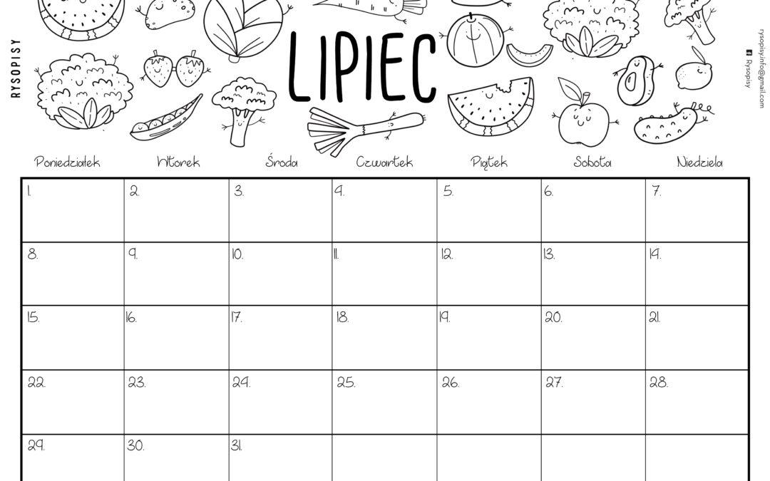 Kalendarz- lipiec 2019