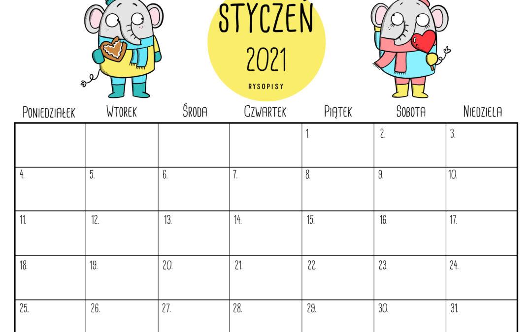 Kalendarz – styczeń 2021
