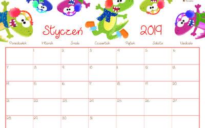 Kalendarz- styczeń 2019