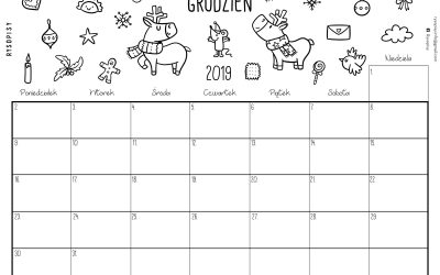 Kalendarz- grudzień 2019