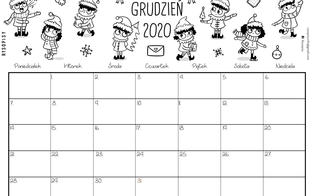 Kalendarz grudzień 2020