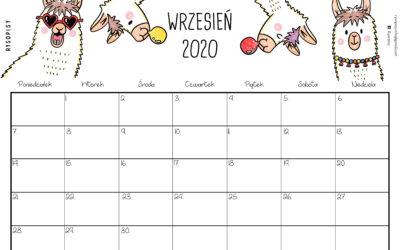 Kalendarz- wrzesień 2020