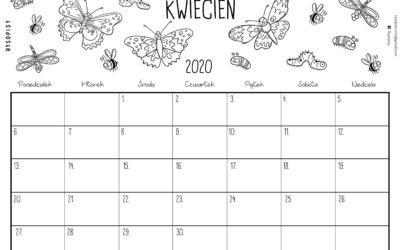 Kalendarz kwiecień 2020