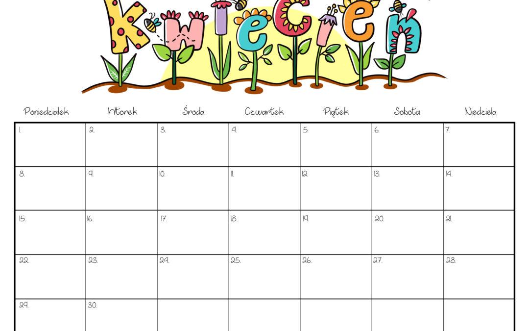 Kalendarz- kwiecień 2019