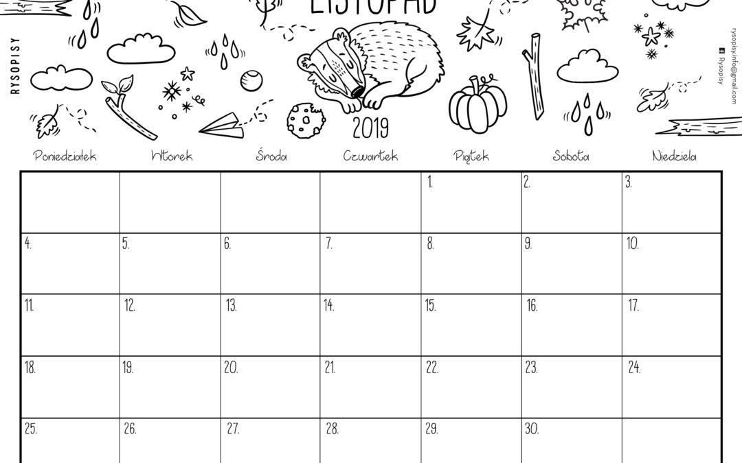 Kalendarz- listopad 2019