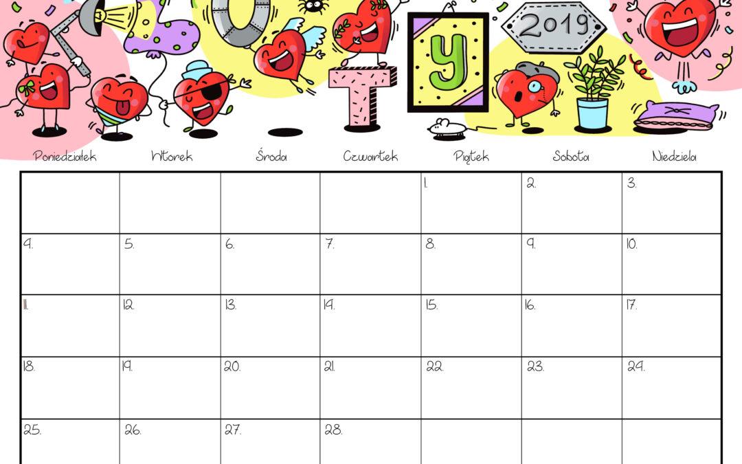 Kalendarz- luty 2019 (kolorowy)